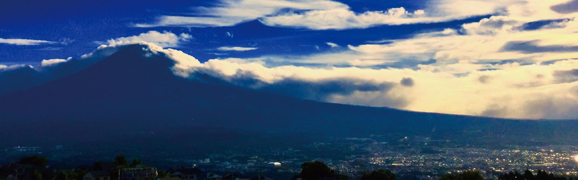 富士山が望める高台にある青木平